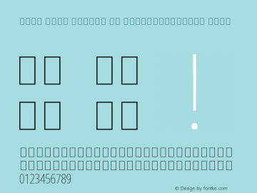 Noto Sans Arabic UI ExtraCondensed Thin Version 2.000; ttfautohint (v1.8.2) Font Sample