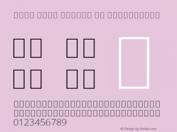 Noto Sans Arabic UI ExtraLight Version 2.000; ttfautohint (v1.8.2)图片样张