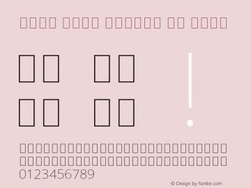 Noto Sans Arabic UI Thin Version 2.000; ttfautohint (v1.8.2) Font Sample