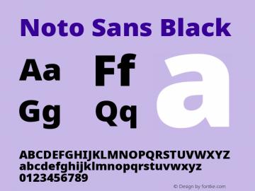 Noto Sans Black Version 2.001; ttfautohint (v1.8.2)图片样张