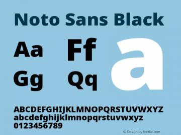 Noto Sans Black Version 2.001;GOOG;noto-source:20181019:f8f3770;ttfautohint (v1.8.2)图片样张