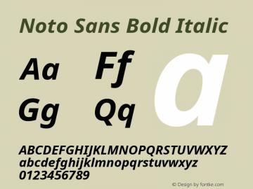 Noto Sans Bold Italic Version 2.001;GOOG;noto-source:20181019:f8f3770;ttfautohint (v1.8.2)图片样张