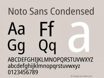 Noto Sans Condensed Version 2.001; ttfautohint (v1.8.2)图片样张