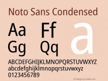 Noto Sans Condensed Version 2.001;GOOG;noto-source:20181019:f8f3770;ttfautohint (v1.8.2)图片样张