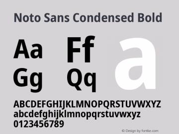 Noto Sans Condensed Bold Version 2.001;GOOG;noto-source:20181019:f8f3770;ttfautohint (v1.8.2)图片样张