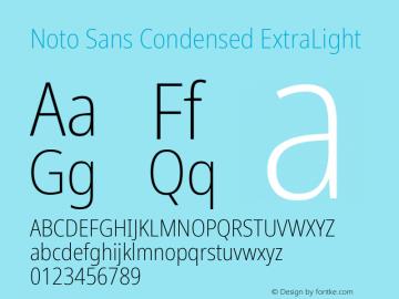 Noto Sans Condensed ExtraLight Version 2.001;GOOG;noto-source:20181019:f8f3770;ttfautohint (v1.8.2)图片样张