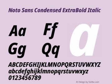 Noto Sans Condensed ExtraBold Italic Version 2.001图片样张