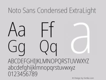 Noto Sans Condensed ExtraLight Version 2.001; ttfautohint (v1.8.2)图片样张