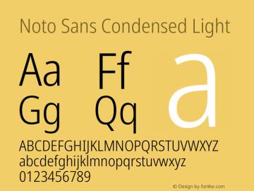 Noto Sans Condensed Light Version 2.001图片样张