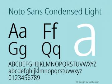 Noto Sans Condensed Light Version 2.001; ttfautohint (v1.8.2)图片样张