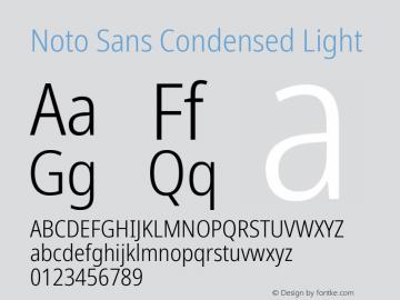 Noto Sans Condensed Light Version 2.001;GOOG;noto-source:20181019:f8f3770;ttfautohint (v1.8.2)图片样张
