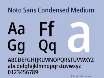 Noto Sans Condensed Medium Version 2.001图片样张