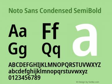 Noto Sans Condensed SemiBold Version 2.001; ttfautohint (v1.8.2)图片样张