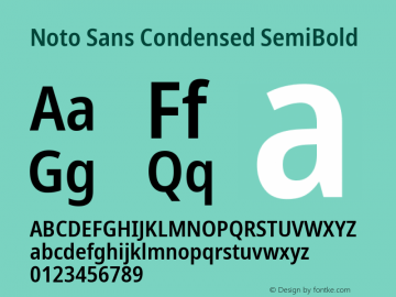Noto Sans Condensed SemiBold Version 2.001;GOOG;noto-source:20181019:f8f3770;ttfautohint (v1.8.2)图片样张