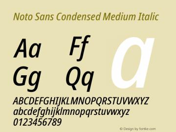 Noto Sans Condensed Medium Italic Version 2.001;GOOG;noto-source:20181019:f8f3770;ttfautohint (v1.8.2)图片样张