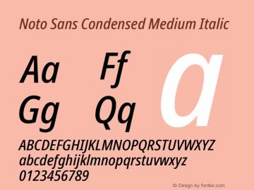Noto Sans Condensed Medium Italic Version 2.001; ttfautohint (v1.8.2)图片样张