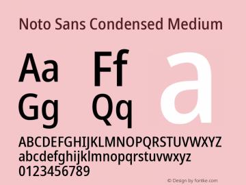 Noto Sans Condensed Medium Version 2.001; ttfautohint (v1.8.2)图片样张