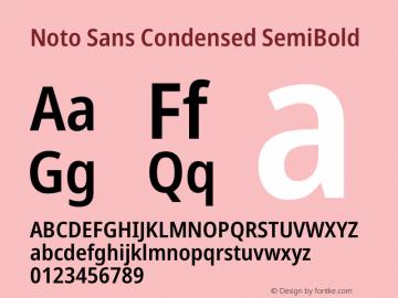 Noto Sans Condensed SemiBold Version 2.001图片样张