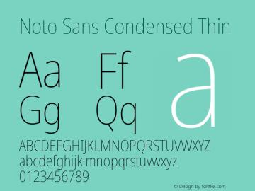 Noto Sans Condensed Thin Version 2.001; ttfautohint (v1.8.2)图片样张
