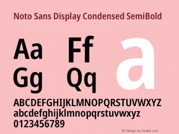 Noto Sans Display Condensed SemiBold Version 2.001图片样张