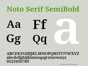 Noto Serif SemiBold Version 2.001; ttfautohint (v1.8.2)图片样张