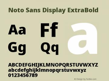Noto Sans Display ExtraBold Version 2.001图片样张
