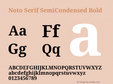 Noto Serif SemiCondensed Bold Version 2.001图片样张