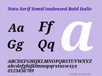 Noto Serif SemiCondensed Bold Italic Version 2.001图片样张