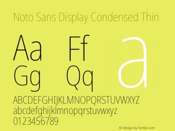 Noto Sans Display Condensed Thin Version 2.001图片样张