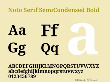 Noto Serif SemiCondensed Bold Version 2.001;GOOG;noto-source:20181019:f8f3770;ttfautohint (v1.8.2)图片样张