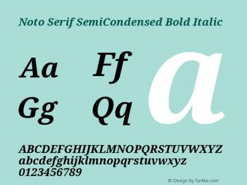 Noto Serif SemiCondensed Bold Italic Version 2.001; ttfautohint (v1.8.2)图片样张