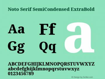 Noto Serif SemiCondensed ExtraBold Version 2.001; ttfautohint (v1.8.2)图片样张