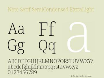 Noto Serif SemiCondensed ExtraLight Version 2.001图片样张