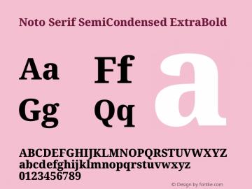 Noto Serif SemiCondensed ExtraBold Version 2.001图片样张