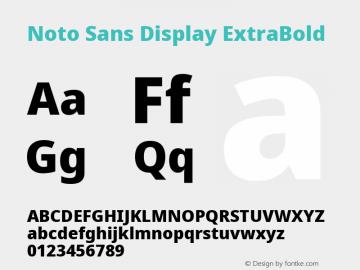 Noto Sans Display ExtraBold Version 2.001; ttfautohint (v1.8.2)图片样张