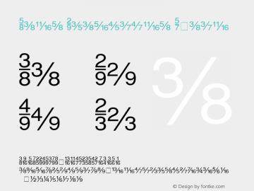 Sans Fractions Plain 001.004 Font Sample