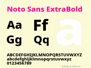Noto Sans ExtraBold Version 2.001; ttfautohint (v1.8.2)图片样张