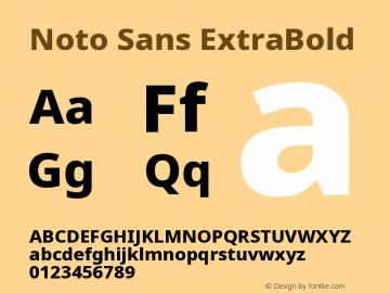 Noto Sans ExtraBold Version 2.001图片样张