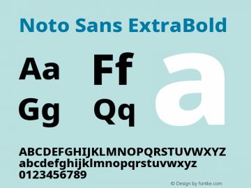 Noto Sans ExtraBold Version 2.001;GOOG;noto-source:20181019:f8f3770;ttfautohint (v1.8.2)图片样张