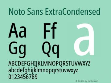 Noto Sans ExtraCondensed Version 2.001; ttfautohint (v1.8.2)图片样张