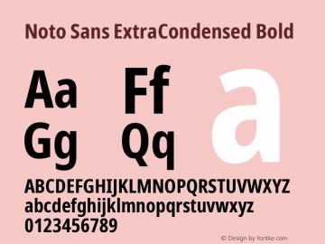Noto Sans ExtraCondensed Bold Version 2.001; ttfautohint (v1.8.2)图片样张