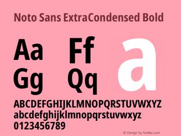 Noto Sans ExtraCondensed Bold Version 2.001图片样张