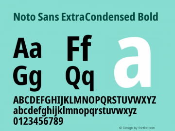 Noto Sans ExtraCondensed Bold Version 2.001;GOOG;noto-source:20181019:f8f3770;ttfautohint (v1.8.2)图片样张