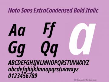Noto Sans ExtraCondensed Bold Italic Version 2.001; ttfautohint (v1.8.2)图片样张