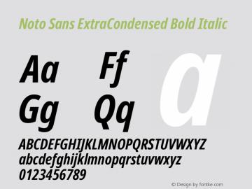 Noto Sans ExtraCondensed Bold Italic Version 2.001;GOOG;noto-source:20181019:f8f3770;ttfautohint (v1.8.2)图片样张