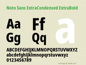Noto Sans ExtraCondensed ExtraBold Version 2.001; ttfautohint (v1.8.2)图片样张