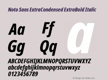 Noto Sans ExtraCondensed ExtraBold Italic Version 2.001图片样张