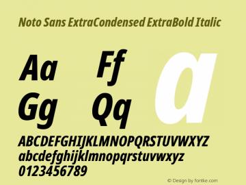 Noto Sans ExtraCondensed ExtraBold Italic Version 2.001;GOOG;noto-source:20181019:f8f3770;ttfautohint (v1.8.2)图片样张