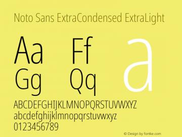Noto Sans ExtraCondensed ExtraLight Version 2.001; ttfautohint (v1.8.2)图片样张