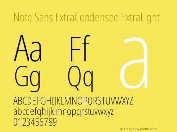 Noto Sans ExtraCondensed ExtraLight Version 2.001图片样张